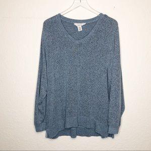 Workshop | Blue Soft V Neck Sweater Size Large